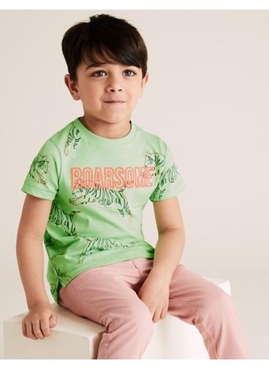 Marks & Spencer Tiger Baskılı T-Shirt Yeşil